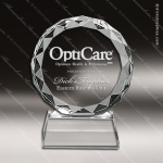 Crystal  Circle With Diamond Edge Trophy Award Octagon Shaped Crystal Awards