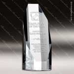 Crystal  Clear Octagon Tower Trophy Award Octagon Shaped Crystal Awards