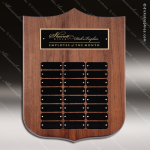 The Melrose Walnut Perpetual Arch Plaque  24 Black Plate Ornate Perpetual Plaques