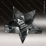 Crystal Clear Slanted Star Paperweight Trophy Award Paperweight Crystal Awards