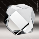 Crystal  Clear Hexagon Paperweight Trophy Award Paperweight Crystal Awards