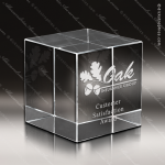 Crystal Advantage Square Block Cube Trophy Award Paperweight Crystal Awards