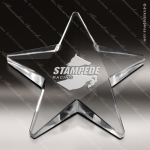 Crystal  Clear Twinkle Star Paperweight Trophy Award Paperweight Crystal Awards