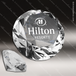 Crystal  Diamond Edge Circle Paperweight Trophy Award Paperweight Crystal Awards