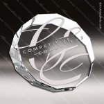 Crystal  Clear Duo Decagon Trophy Award Paperweight Crystal Awards