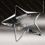 Crysta  Clear L Pentagon Star Paperweight Trophy Award Paperweight Crystal Awards