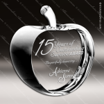 Crystal  Clear Teacher's Pet Apple Paperweight Trophy Award Paperweight Crystal Awards