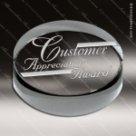 Crystal  Clear Round Circular Circle Paperweight Trophy Award Paperweight Crystal Awards