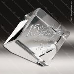 Crystal  Cube Paperweight Triangle Trophy Award Paperweight Crystal Awards
