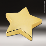 Cast Gold Star 3D Paperweight Trophy Award Paperweights