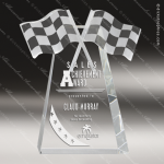 Crystal Sport Checkered Racing Flags Car Show Trophy Award PDU CAT Crystal Trophy Awards