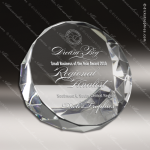 Crystal  Clear Jewel Cut Paper Weight Trophy Award PDU CAT Crystal Trophy Awards