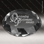 Crystal  Clear Round Paperweight Trophy Award PDU CAT Crystal Trophy Awards