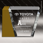 Crystal Gold Accented Corporate Eclipse Trophy Award PDU CAT Crystal Trophy Awards