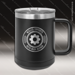 Double Wall Insulated Coffee Mug - Black Personalized Black Drinkware Engraved