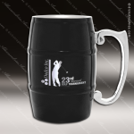 Engraved Stainless Steel Metal Barrel Mug Black Laser Etched Gift Personalized Black Drinkware Engraved