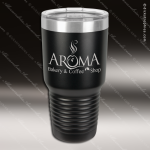 Engraved Stainless Steel 30 Oz. Ringneck Travel Mug Black Etched Gift Personalized Black Drinkware Engraved