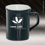 Engraved Ceramic 10 Oz. Rounded Corner Coffee Mug Black Laser Etched Gift Personalized Black Drinkware Engraved