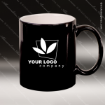 Engraved Ceramic 11 Oz. Round Coffee Mug Black Laser Etched Gift Personalized Black Drinkware Engraved