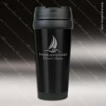 Engraved Stainless Steel 16 Oz. Travel Mug Black Laser Etched Gift Personalized Black Drinkware Engraved