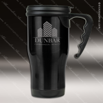 Engraved Stainless Steel 14 Oz. Travel Coffee Mug Black Laser Etched Gift Personalized Black Drinkware Engraved