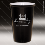 Engraved Ceramic 14 Oz. Latte Mug Black Laser Etched Gift Personalized Black Drinkware Engraved