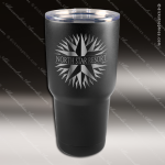 Engraved Stainless Steel 30 Oz. Mug Polar Tumbler Black Laser Etched Gift Personalized Black Drinkware Engraved