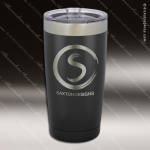 Engraved Stainless Steel 20 Oz. Tumbler Black Laser Etched Gift Personalized Black Drinkware Engraved