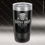 Engraved Stainless Steel 20 Oz. Ringneck Tumbler Black Etched Gift Personalized Black Drinkware Engraved