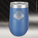 Double Wall Insulated Stemless Tumbler -Blue Personalized Blue Drinkware Engraved