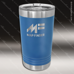 Double Wall Insulated Pint with Clear Slider Lid -Royal Blue Personalized Blue Drinkware Engraved