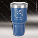 Engraved Stainless Steel 30 Oz. Ringneck Travel Mug Royal Blue Etched Gift Personalized Blue Drinkware Engraved