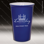 Engraved Ceramic 14 Oz. Latte Mug Blue Laser Etched Gift Personalized Blue Drinkware Engraved
