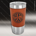 Rawhide Leatherette Double Wall Insulated Stainless Steel Travel Mug Personalized Embossed Leather Drinkware Engraved