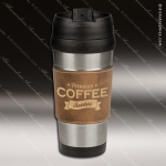 Engraved Leather Stainless Steel 16 Oz. Mug Rustic Grip Laser Etched Gift Personalized Embossed Leather Drinkware Engraved
