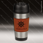 Engraved Leather Stainless Steel 16 Oz. Mug Rawhide Grip Laser Etched Gift Personalized Embossed Leather Drinkware Engraved