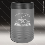 Double Wall Insulated Beverage Holder -Dark Gray Personalized Gray Silver Drinkware Engraved