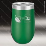 Double Wall Insulated Stemless Tumbler -Green Personalized Green Drinkware Engraved