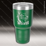 Engraved Stainless Steel 30 Oz. Ringneck Travel Mug Green Etched Gift Personalized Green Drinkware Engraved