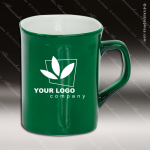 Engraved Ceramic 10 Oz. Rounded Corner Coffee Mug Green Laser Etched Gift Personalized Green Drinkware Engraved