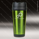 Engraved Stainless Steel 16 Oz. Travel Mug Green Laser Etched Gift Personalized Green Drinkware Engraved