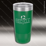 Engraved Stainless Steel 20 Oz. Ringneck Travel Mug Green Etched Gift Personalized Green Drinkware Engraved