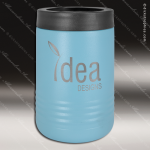 Double Wall Insulated Beverage Holder -Light Blue Personalized Light Blue Drinkware Engraved