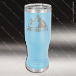 Double Wall Insulated Pilsner with Clear Lid -Light Blue Personalized Light Blue Drinkware Engraved