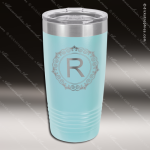 Engraved Stainless Steel 20 Oz. Ringneck Travel Mug Light Blue Etched Gift Personalized Light Blue Drinkware Engraved