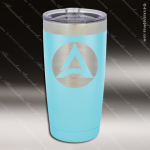 Engraved Stainless Steel 20 Oz. Tumbler Light Blue Laser Etched Gift Personalized Light Blue Drinkware Engraved