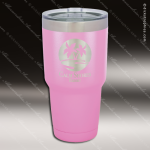 Engraved Stainless Steel 30 Oz. Mug Polar Tumbler Light Purple Laser Etched Personalized Light Purple Drinkware Engraved