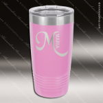 Engraved Stainless Steel 20 Oz. Ringneck Travel Mug Light Purple Etched Gif Personalized Light Purple Drinkware Engraved
