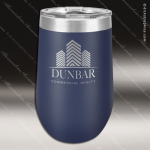 Double Wall Insulated Stemless Tumbler -Navy Blue Personalized Navy Blue Drinkware Engraved