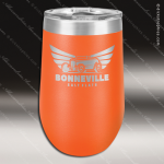 Double Wall Insulated Stemless Tumbler -Orange Personalized Orange Drinkware Engraved
